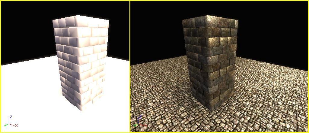 Lighting, vertex and lightmap on BSP and SM   Stevie's corner