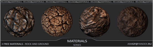 4 free materials - Rock and ground