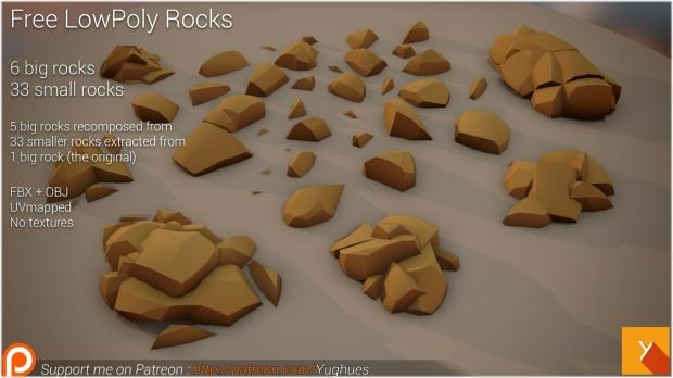 Nobiax-LowPoly rocks set 1