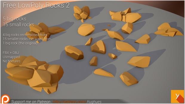 Nobiax-LowPoly rocks set 2